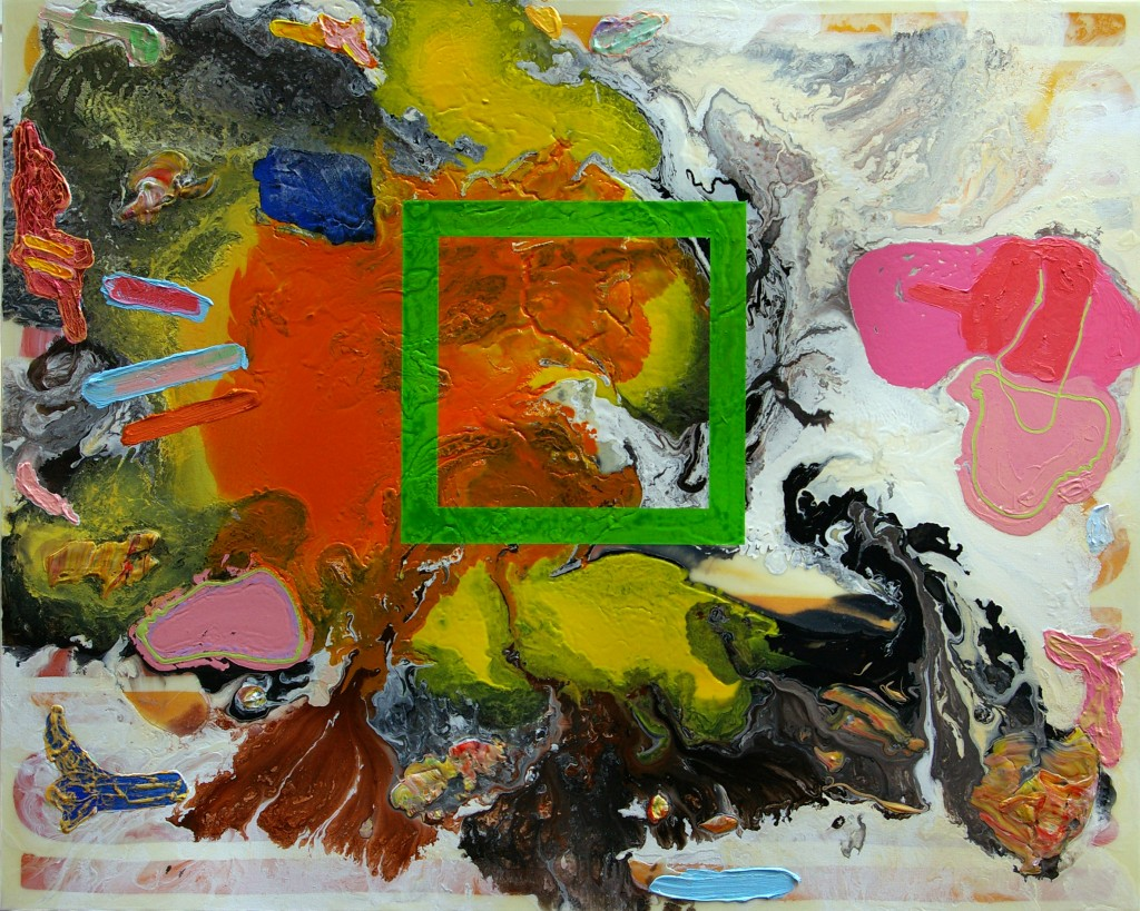 Vent, Plaything Series, 2011Acrylic, Oil, Mixed Media on Canvas121.9 cm x 152.4 cm (48 inches x 60 inches)